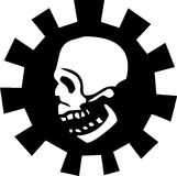 Gear Skull #3 Royalty Free Stock Images