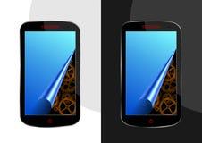 Gear in smartphone Stock Photo