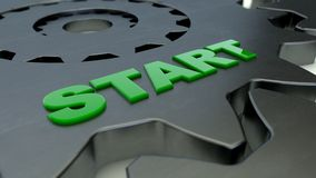 Gear and Start word Royalty Free Stock Photo