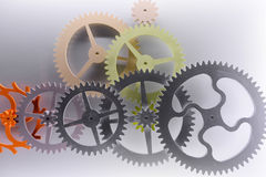 Gear structure. Pattern, machine power Stock Photo