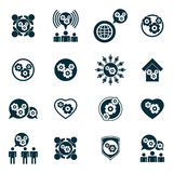 Gear symbol, manufacuring system theme icons Stock Photos