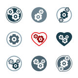 Gear system power development icons Stock Photos