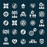 Gear system power development and progress theme unusual icons s Stock Photo