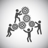 Gear teamwork concept. Gear cog wheels teamwork working people collaboration concept vector illustration Stock Photography