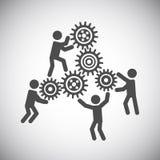 Gear teamwork concept Stock Photography