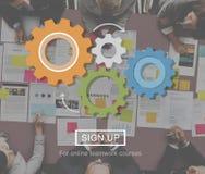 Gear Technical Spin Wheel Wheel Concept. Business People Technical Spin Concept Stock Photo