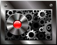 Gear techno style vector Stock Image