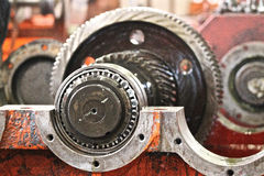 Gear train on the frame Royalty Free Stock Photography