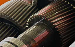 The gear train in the gear Royalty Free Stock Image