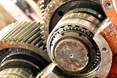 The gear train in the gear Royalty Free Stock Images