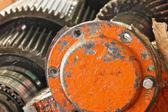 The gear train in the gear Stock Images