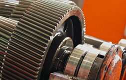 The gear train in the gear Stock Image