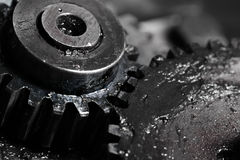 Gear train in machine construction Stock Photo