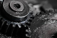 Gear train in machine construction Stock Photo