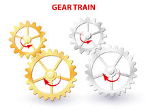Gear train Stock Images