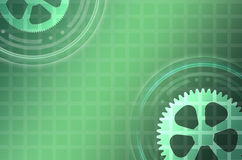 Gear transmission on an abstract background mesh. Stock Image