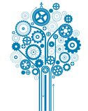 Gear tree. Creative gear tree pattern design Royalty Free Stock Images