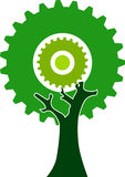 Gear tree. Illustration art of a gear tree with isolated background royalty free illustration