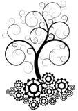 Gear Tree Royalty Free Stock Photos