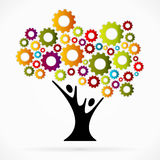 Gear tree. Abstract vector illustration background royalty free illustration