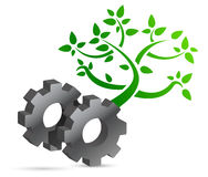 Gear and tree eco concept Stock Images