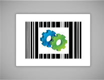 Gear upc or barcode Royalty Free Stock Images