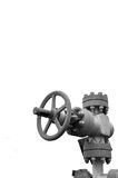 Gear, valves, faucet, stopcock. Control gas oil water, wheel for the pipeline, Round-wrapped, isolated object, plrschad for the title Stock Photo