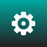 Gear vector icon illustration graphic design. Royalty Free Stock Photography