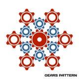 Machine Gear Cogwheel pattern. Vector illustration stock illustration