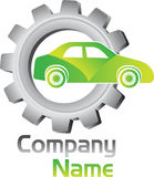 Gear vehicle logo Royalty Free Stock Images