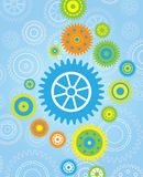 Gear wallpaper background Royalty Free Stock Photos