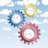 Gear & watches. Illustration of gear and watches Royalty Free Stock Images