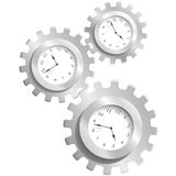 Gear & watches. Illustration of gear and watches Royalty Free Stock Photos