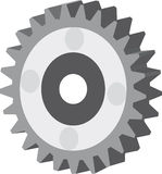 Gear wheel. Isolated vector image of a gear wheel Royalty Free Stock Image