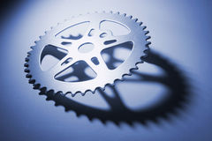 Gear Wheel. On in Blue tone Stock Photos