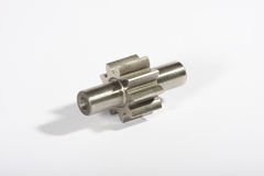 Gear Wheel. Metal gear wheel, used spare part Stock Photography