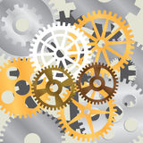 Gear wheel. Abstract background with images of gear wheels Stock Photos