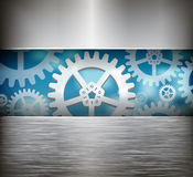 Gear wheel abstract background. Vector illustration Royalty Free Stock Images