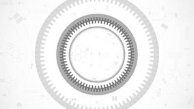 Gear wheel abstract technology background stock illustration