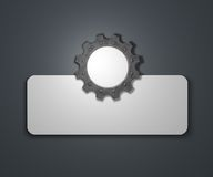 Gear wheel banner Stock Photos