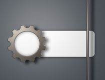 Gear wheel banner Stock Images