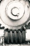Gear wheel black and white photo Royalty Free Stock Image
