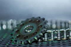 Gear wheel and chain Royalty Free Stock Photography