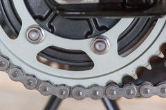 Gear wheel with chain Stock Images