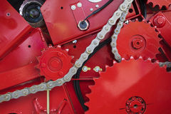 Gear wheel and chain Royalty Free Stock Photos