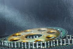 Gear wheel and chain Stock Photos