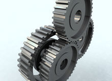 Gear wheel cog. 3D Illutration of Gear wheel royalty free stock photos