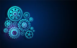 Gear wheel cog stucture machine system tech innovative concept background design Stock Images