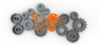 Gear wheel cog wheel illustration Stock Image