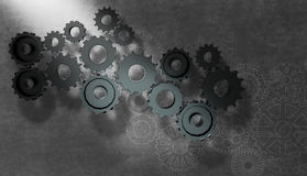 Gear wheel cog wheel illustration Stock Photography